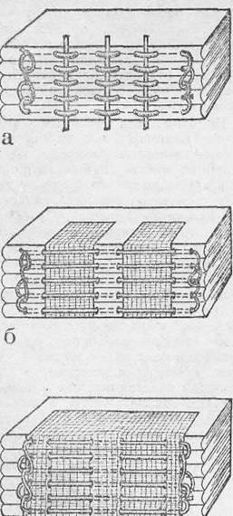 Схемы шитья тетрадей в книжный