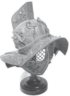 Такое извращенное Бронзовый шлем, в который облачали гладиаторов.