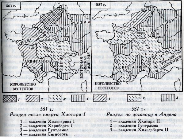 Франкское государство во второй половине VI в.