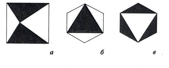 Октаэдр с белыми и черными